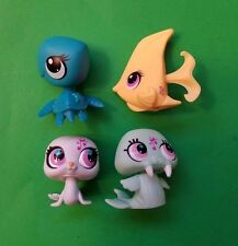 Littlest Pet Shop Sea Life LOT Angel Fish Sea Turtle Walrus Seal Candy Swirl