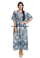 Indian Kaftan Cotton Handmade Hippie Kimono Sleeves Plus Size Maxi Tunic Caftan