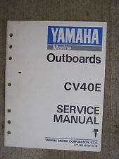 1989 Yamaha Outboard Motor CV40E Service Manual MORE BOAT ITEMS IN OUR STORE  U
