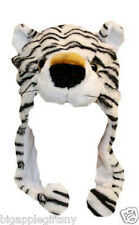 NEW CUTE WHITE TIGER  Winter Hat Fluffy Plush hat Warm Cap Perfect Gift - Unisex
