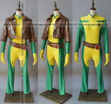 X-men Rogue Brown leather Jacket Cosplay Costume Full set Any Size