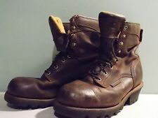 2000's Brown Leather Waterproof Carhart Boots Men's Size 8 EE Used- Great Cond.