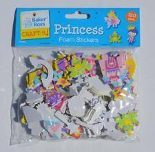 Pack of 120 Foam Princess Stickers - Prince Crown Castle Wand Carriage Frog