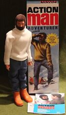 VINTAGE ACTION MAN 40th ANNIVERSARIO FLOCCATI capelli Adventurer Hard Mani in Scatola