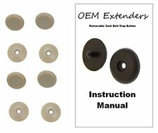 (4) Seat Belt Stop Button stopper Universal Kit fits any Ford in Tan