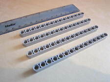LEGO TECHNIC 4 x Thick Lift Arm Beams 1 x 15 GREY - Part Number 32278