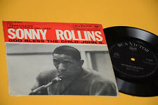 "SONNY ROLLINS 7"" GOD BLESS THE CHILD 1°ST ORIG JAZZ ITALY '50 EX+ LAMINATED COVE"