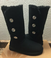 UGG EXCLUSIVE BAILEY BUTTON BLING TRIPLET BLACK BOOT sz US 7 / EU 38 / UK 5.5