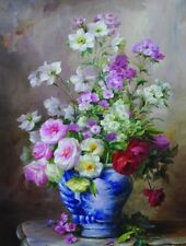 """Oil Painting Printed On Canvas 12x16"""" Modern Wall flowersCanvas Art(NO frame)"""