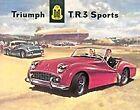 Triumph TR3 metal sign 400mm x 320mm (de)