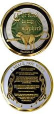 THE LORD IS MY SHEPHERD Psalm 23 Challenge Coin Token religious Christian