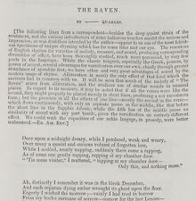Edgar Allan Poe The Raven The American Review 1845 Complete Year First Edition
