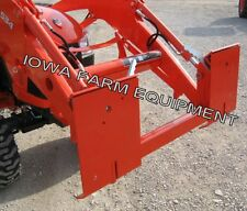 Kubota LA504, LA534 Loader With Pin-On Bucket To Skid Steer Quick Attach Adapter