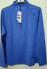 CRANE Sports Fitness Half Zip Blue LYCRA Long Sleeve T shirt TOP Size L BNWT