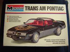 Monogram Trans Am Pontiac  # 2247  Open But Complete