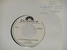 "PETER STRAKER -If This Was The Last Song- 7"" 45 Polydor Promo Archiv mint"