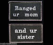 BANGED UR MOM AND UR SISTER USA ARMY BADGE SWAT VELCRO® BRAND FASTENER 2 PATCH