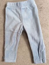 GAP SKY BLUE FLEECE JOGGERS WITH LITTLE ZIPS AT THE ENDS - AGE 12-18m BNWT