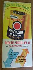 1955 Havoline Texaco One Quart Oil Can Booklet Brochure pamphlet NOS Colorful!