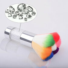 Nail Art Dust Remover Brush Cleaner For Acrylic&UV Gel Powder Chic Colorful Hair