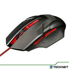Tecknet - Raptor Gaming Mouse 2000 DPI 6 Button Extra Weight Optical - USB Wired