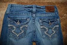 Blue Denim BIG STAR Sweet Boot Ultra Low Rise Stretch Jeans 27 R