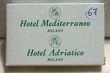 SAPONETTA HOTEL MEDITERRANEO E ADRIATICO- MILANO - RETTANGOLARE CON SCATOLA N.67