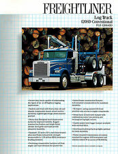 FREIGHTLINER 120SD CONVENTIONAL LOG  TRUCK  SALES BROCHURE FLD 12064SD