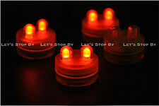10 RED SUPER Bright Dual LED Tea Light Submersible Floralyte Party Wedding