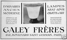 PUBLICITÉ GALEY FRÈRES LUMINAIRES LAMPES APPAREIL DE CHAUFFAGE ÉLECTRIQUES