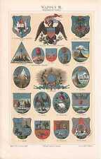 Blasón américa coat of arms estados unidos America mostrarían de 1897 cuba perú haití México