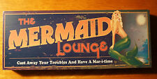 Cast Away Your Troubles MERMAID LOUNGE Beach Block Shelf Home Bar Decor Sign NEW