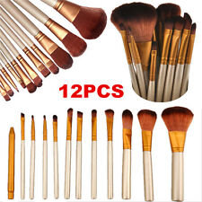 Pro 12pcs Makeup Brushes Set Powder Foundation Eyeshadow Eyeliner Lip Brush Tool