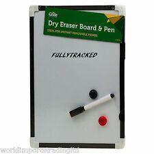 24 Magnetic Mini White Board A4  Dry Wipe Pen & Eraser Whiteboard Notice
