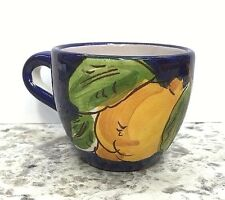 Vietri pottery-Espresso Cup With Lemon Pattern.Made/painted by hand-Italy