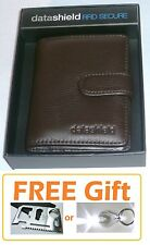 ON SALE Brown Executive Leather 20 x Credit Card Wallet RFID Secure FREE GIFT