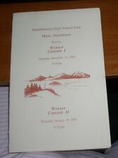SMITHTOWN HIGH SCHOOL EAST HS NEW YORK 1989 WINTER CONCERT PROGRAM