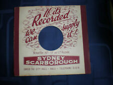 """SYDNEY SCARBOROUGH (HULL)  - BESPOKE RECORD SLEEVE FOR 7"""" SINGLES -VG CONDITION"""