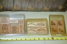 Lot 3 Stampin' Up! SETS Mini Corners/Itty Bitty Borders/Furnished with Love 3set