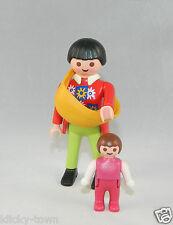 Playmobil Wohnhaus Stadtleben Frau mit Baby im Tragetuch 3965 4279 5300 #32340