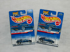 lot of 2, Hot Wheels 2000 first editions  MX48 Turbo, 2 wheel variations