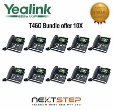 Qty 10 Bundle - Yealink SIP-T46G 6 Line Ultra-Elegant Gigabit IP Phone T46G