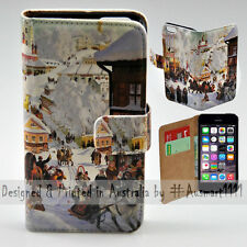 Wallet Phone Case Flip Cover for Apple iPhone 5 5S - Winter Season in Russia