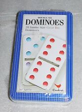 NIP Cardinal Double 6 Six Dominoes 28 Jumbo Size Color Dot Train Tin Ages 4+ NEW