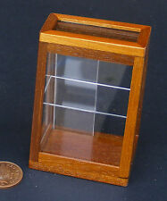 1:12 Slim Flat Topped Brown Colour Counter Display Unit Dolls House Miniature T