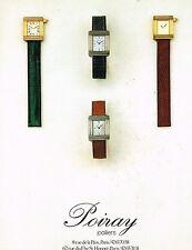 PUBLICTE  1986   POIRAY   collection montres joaillier