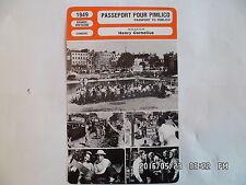 CARTE FICHE CINEMA 1949 PASSEPORT POUR PIMLICO Stanley Holloway H Baddeley