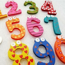Hot 10 Number Kids Wooden Alphabet Fridge Magnet Child Educational learn Toy New
