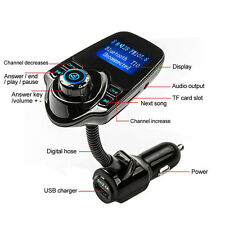 Hands-free Bluetooth Car MP3 Player FM Transmitter With USB Charger and Aux Cord