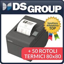 EPSON STAMPANTE TERMICA POS TM-T20II USB e SERIALE + 50 ROTOLI TERMICI 80x80